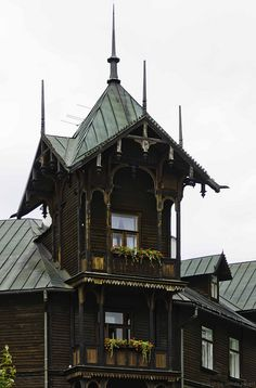 Witoldówka Hotel (a great example of Polish wooden architecture of the mountaineers) Krynica Zdrój, Poland