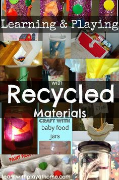 recycled activities, recycling for kids, kids activities