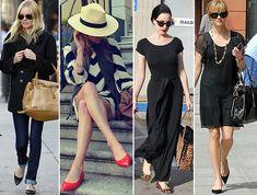 Mesmo sem salto, sapatos de bico fino dão a impressão de que você é mais alta.   42 segredos de estilo que fazem toda a diferença no look