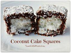 Coconut cake squares