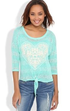 Striped Top with Heart Patch