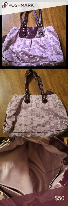 Authentic coach purse Used, some wear on it but still a beautiful purse. I'm sure it could clean up nice if someone wanted to take the time to detail it Coach Bags