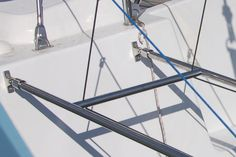 Outboard motor hoist and outboard motor harness for sailing yachts. Outboard Motors, Utility Pole, Wind Turbine
