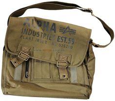 Сумка Alpha Industries Canvas Courier Bag (оливкова)  Ціна: 53 $