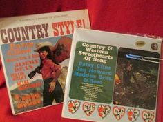 """Two Vintage Country Western LPs """"Country Style"""" and """"C & W Sweethearts of Song"""""""" by trackerjax on Etsy Vintage Country, Country Style, Used Vinyl, Lps, Westerns, Songs, Handmade Gifts, Kid Craft Gifts, Rustic Style"""