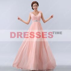Pink prom dress  long prom dress / pink evening by dressestime, $139.99