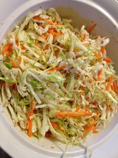 *Sweet and Tangy Cole Slaw * NOTE: make your own cole mix.made this Nov it was good but, needed extra sugar added to mimimize the tartness and also needs a sprinkle of salt to brighten the taste. No Dairy Recipes, Vegetarian Recipes, Cooking Recipes, Healthy Recipes, Coleslaw Salad, Coleslaw Dressing No Mayo, Homemade Coleslaw Dressing, Asian Coleslaw, Chopped Salads