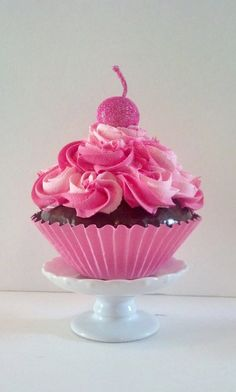 Jumbo Fake Cupcake Chocolate Cake with by FakeCupcakeCreations, $14.50
