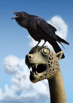 Raven: So who do you think is scarier? Me or my friend? Remember he only breathes fire but I will peck your eyes out!