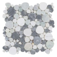 Coastal Marble Pebblestone Mosaic - 10in. x 11in. | Floor and Decor - possible shower floor tile