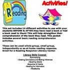 Reading a Book For Comprehension Activities!    This set includes 14 different activities to use with your students BEFORE & AFTER they have re...