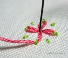 Daisy Stitch in Two Colors, Take Two