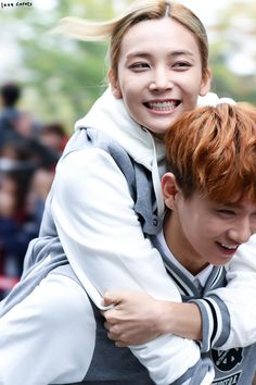 """""""Jeonghan is trying to climb on Joshua so he can get back to heaven 