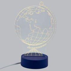 Lámpara LED Decorativa Mapa Mundi con Efecto 3D Luz Cálida