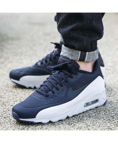7668141721 Nike Air Max 90 Ultra Moire Obsidienne Blanche Nike Shoes For Sale