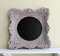 Purple CHALKBOARD Nursery Decor Lilac Lavender Wall Decor Wedding Sign Kitchen Baroque Antique Framed Chalk Board MAGNETIC Christmas Gift. $74.00, via Etsy.