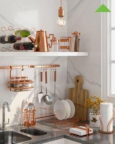 d75df5039 A cor rose gold é uma tendência na decoração e pode ser usada até mesmo na