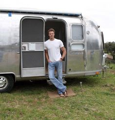 Living Large in an Airstream Trailer  House Tour...liking some of his interior ideas...