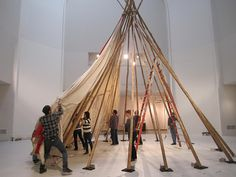"""""""Tipi: The Heritage of the Great Plains"""" at the Brooklyn Museum - artnet Magazine Plains Indians, Great Plains, Habitats, Tent, Brooklyn, Fair Grounds, Museum, Backyard, Prints"""