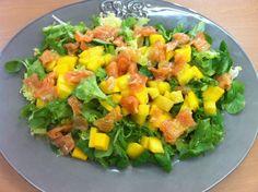 Cocina de nuestro tiempo...: Ensalada de salmón y mango