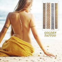 New Design Gold flash tattoo Fashion Temporary tatoo temporary stickers Temporary Body Art Waterproof Tattoo Pattern VH0224-in Temporary Tattoos from Beauty & Health on Aliexpress.com | Alibaba Group