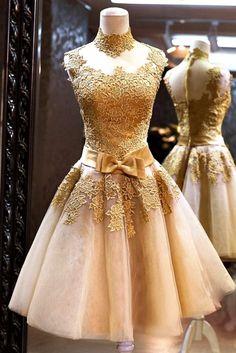 elegant luxury celebrations evening gold cocktail dress #Dresses, #gold