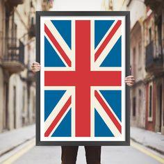 Placa decorativa bandeira UK - StickDecor | Decoração Criativa