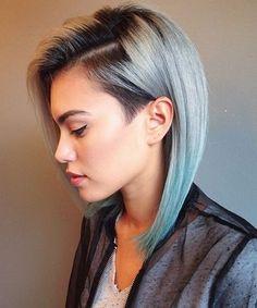 Light Blue Edgy Cut 2015 For Women