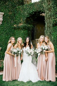 gorgeous twobirds bridesmaid dresses from Villa Siena Gilbert Arizona Real Wedding featured in our Winter/Spring issue. #trendybride #militarywedding