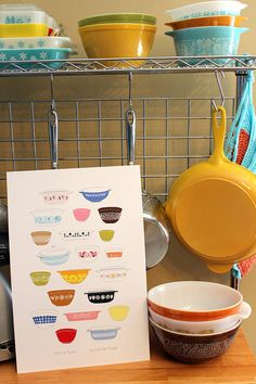 NEW - Vintage Pyrex Kitchen Art - Poster - 11x17 or 12x18 - Put It In Pyrex