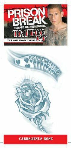 Prison Break Cards Jesus Rose Tattoos C4L. $2.95