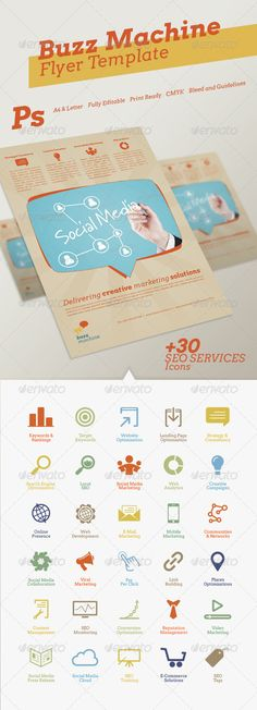 Buzz Machine Flyer Template - GraphicRiver Item for Sale