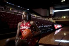 A portrait of Stanford University basketball player Chiney Ogwumike at Stanford University on March 28, 2014. (Dai Sugano/Bay Area News Grou...