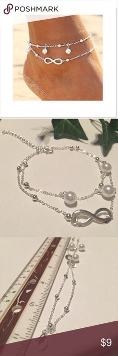 🍀Pearl sexy anklet Lovely anklet for barefoot in summer Jewelry Bracelets