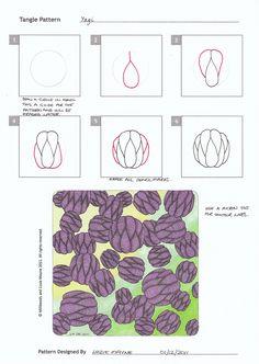 Yagi  |  tangle pattern designed by lizzie mayne