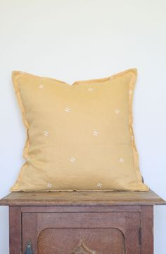 Oh Mabel Vintage Inspired Linen Cushion 'Mabels Wish Summer'