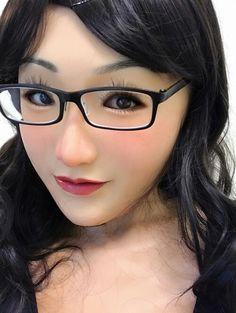 Ebony silicone mask with boobs