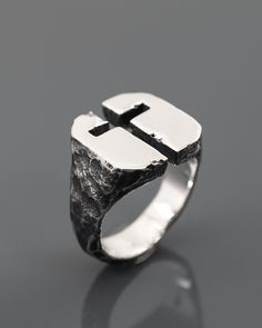 One of the oldest symbols, meaning exactly what you want to. - Men's style, accessories, mens fashion trends 2020 Cool Rings For Men, Rings Cool, Unique Rings, Mens Ring Designs, Titanium Rings For Men, Old Symbols, Bijoux Diy, Jewelery, Men's Jewelry
