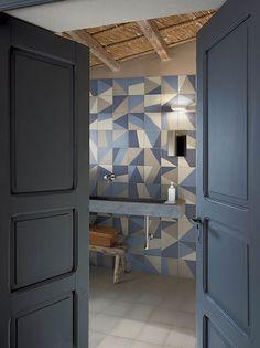 piastrelle fatte a mano in ceramica pavimento rivestimento geometrico design bardelli