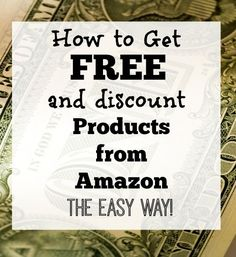 How to Get Free and Discount Products from Amazon: all you have to do is write a review.