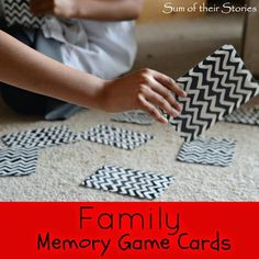 Sum of their Stories: Family Memory Game Cards #theultimateparty--week 20