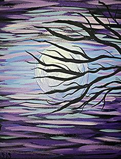 Moonglow By SIS   Acrylic 16×20 Stretched Canvas