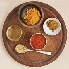 Moroccan Spice Rub Recipe Main Dishes with ground cumin, curry powder, ground ginger, kosher salt, cayenne pepper, olive oil, cilantro sprigs, roasting chickens