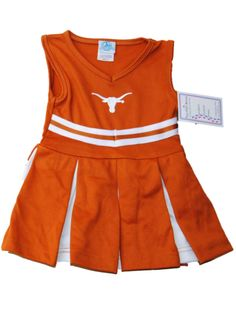 Texas Longhorns TFA Youth Baby Toddler Orange Dress Up Cheerleading Outfit