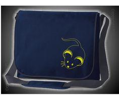 Laptop Messenger dunkelblau mit Motiv/Spruch von Jajis-ART auf DaWanda.com
