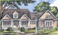 Country House Plan with 1925 Square Feet and 3 Bedrooms(s) from Dream Home Source | House Plan Code DHSW41905
