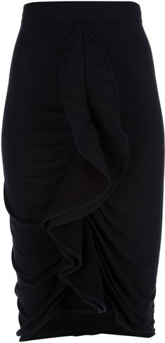 Ruffled Pencil Skirt - Lyst
