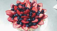 Berry chaotic fruit tart design