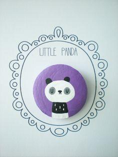 Little Panda Brooch/ Pin
