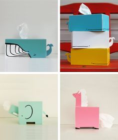 Animals tissue holder in Babies and kids room decoration